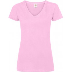 F.O.L.   Lady-Fit Valueweight V-Neck T